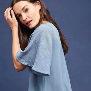 Anthropologie | Eri + Ali Flutter Sleeve Top